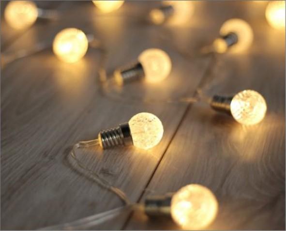 Lampki LED w kształcie żarówki
