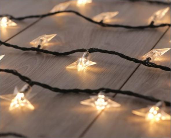 Lampki LED w kształcie gwiazdy