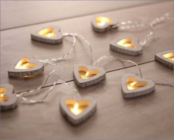 Lampki LED w kształcie serca